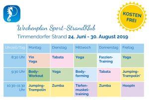 In diesem Sommer wird es wieder sportlich in Timmendorfer Strand: Der Sport-StrandKlub startet wieder!