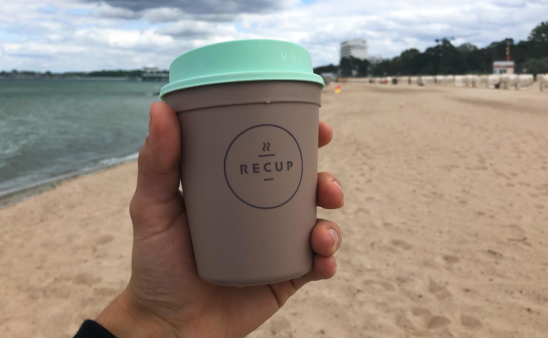 Mehrwegbecher war gestern! Mit Recup wird nun auch in Timmendorfer Strand und Niendorf die Nutzung von Mehrwegbechern eingeführt - Caféübergreifend.